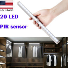20 LEDu0026Wireless PIR Motion Sensor New Battery Cabinet Closet Light Night  Lamp US