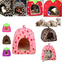 Pet Puppy House Nest Dog Cat Soft Cute Comfy Bed Cushion Basket Kennel Warm Cage
