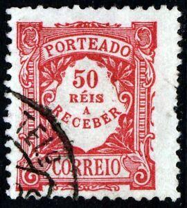 PORTUGAL 1904 POSTAGE DUE 50 Reis Rose Perf 11½  SG D397a VFU