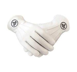 Masonic Regalia White Soft Leather Gloves MC037