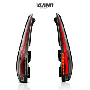 VLAND LED Tail Lights For Cadillac Escalade 2007-2014 Assembly Clear Rear Lights