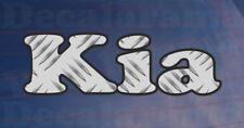 Car Sticker KIA Chequer Plate Effect Bumper Window Novelty Printed Vinyl Decal