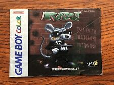 Rats! Rats Nintendo Gameboy Color Instruction Manual Only