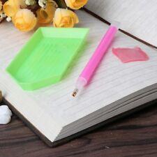 3 X Nail Art Dotting Pen & Rhinestone Picker Gel Cube Plate Manicure Tool