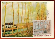 "1974 - FDC CP 1°Jour - A.Sisley - Arphila""75 - Canal Du Loing - Timbre - Yt.1812"
