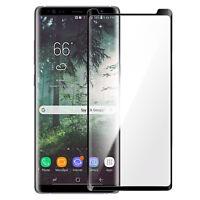Pellicola Samsung Galaxy Note 8 Vetro Temperato Smussato Trasparente Al Per Nero