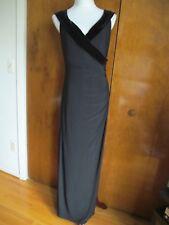 Ralph Lauren women's black maxi evening stylish detailed NWT dress size 12