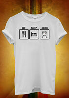 Eat Sleep Anime Manga Ladies Men Women Unisex T Shirt Tank Top Vest 1066