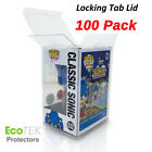 "100 Collectible Funko Pop! Protector 4"" Vinyl Box Crystal Clear Acid Free Strong"