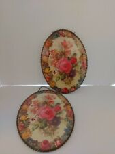 2 Floral Flue covers Reproduction Gallery Graphics