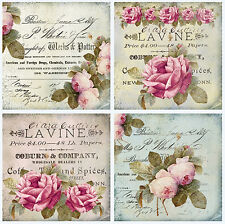 VinTaGe IMaGe PaRis RoSeS LaBeLs PosTCaRdS ShaBby WaTerSLiDe DeCALs