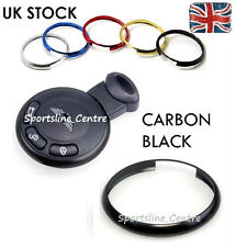 Black MINI Cooper S ONE Countryman Clubman Coupe Roadster Key Fob Ring Trim cb