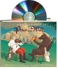 Peter and the Wolf by Sergei Prokofiev hardcover & CD