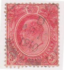 (MS-12) 1906 Straits settlements 3c red Edward VII (B)