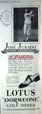 LOTUS 'Dormeone' Golf Shoes 1932 Advert (Golfer JOSE JURADO) - Original Print AD