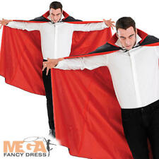 Gótico Vampiro Capa para hombre Disfraz Elaborado Vestido Halloween Drácula Adultos Accesorio