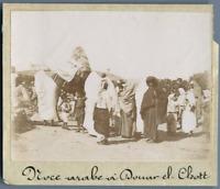 Tunisie, Noce arabe à Douar-El-Chatt  Vintage citrate print. Photo J. Bougrier
