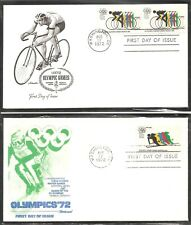 US SC #  1460-1462-C78 Olympic Games 1972 FDC. 4 Covers set