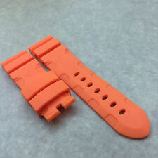 24*22mm Orange Silicone Rubber Waterproof Band Strap for PAM LUNMINOR RADIOMIR