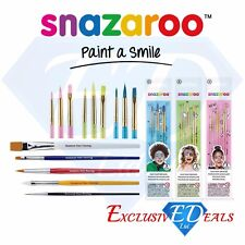 Snazaroo Face Paint & Body Paint Brushes Make Up Fine Artist Flat Boys Girls