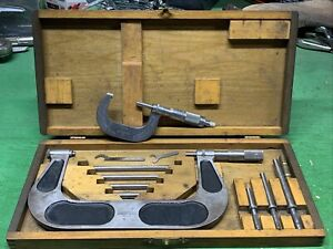 VINTAGE Brown And Sharp Screw Thread Micrometer No. 55 & 48 With NICE Wooden Box