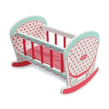Brand New Indigo Jamm Hearts Rocking Cot Dolls Wooden Cradle Pretend Play