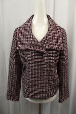 NEW Talbots Womens Blazer 16P Petite Jacket Suit Dress Business Tweed Red Black