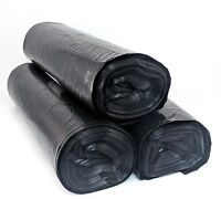 55 Gallon Thick Black Drum Liner Trash Garbage Bags 50 Ct LDPE - FREE PRIORITY