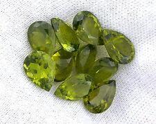 ONE 10x7 10mm x 7mm Arizona Natural Pear Olive Peridot Gemstone Gem EBS4163