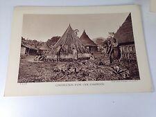 CONSTRUCTION D'UNE CASE CAMEROUN - 30s - Cliché numéroté -