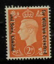 GB KG6 1937 2d WILLIAM CRAWFORD + SONS COMMERCIAL OVERPRINT UNUSED...BISCUITS