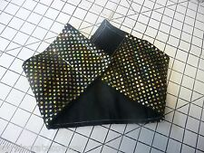 Fancy Gold Dots on Black CUSTOM MADE Male Belly Band Handmade Carol Crate Covers