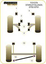 POWERFLEX ENGINE & GEARBOX MOUNTS TOYOTA STARLET TURBO EP82/91 BLACK SERIES
