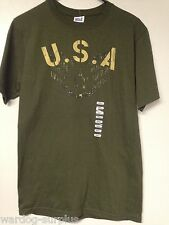 Small S USA Patriotic American USAF RANK LOGO Graphic Tee Shirt Mens