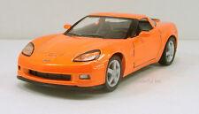 "Kinsmart 2007 Chevrolet Corvette Z06 1:36 scale 5"" diecast model car Orange K24"