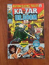Marvel ASTONISHING TALES #5 (1971) KA-ZAR & DOCTOR DOOM    YES!