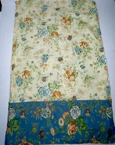 Vintage Cottagecore April Cornell Blue Floral Pillow Cover Button Closure x 2