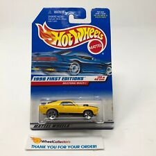 #2  Mustang Mach 1 #670 * Yellow 5 DOT Rims * Hot Wheels 1998 * JC23