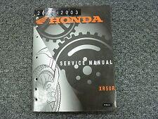 2000 2001 2002 2003 Honda XR50R Dirt Bike Motorcycle Shop Service Repair Manual
