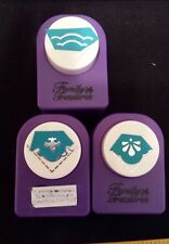 Lot 3 CORNERS Family Treasures Paper Punch SCALLOP Diamond Shell Floral Rounder