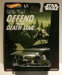 Hotwheels STAR WARS DEFEND THE DEATH STAR 1985 Chevy Van Diecast Mint on Card