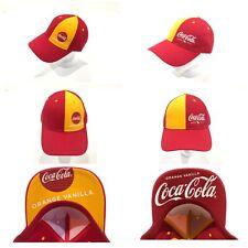 Coca-Cola Orange Vanilla baseball cap Hat Memorabilia *SET of 2* NEW!!!