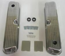 Small Block Ford Valve Covers Ball Milled Tall Polished Aluminum 289 302 350 SBF