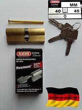 Cylindre porte barillet serrure ABUS EC 850 40/45 haute sécurité maximum 3 clés