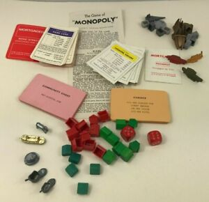 Monopoly Spare Parts Waddington Board Game