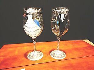 Lolita  The Perfect Pair  Bride & Groom wine glasses