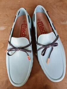 Mocks Slip On Blue Plastic Shoes Size 8