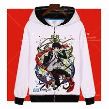 Anime Blue Exorcist Okumura Rin Cosplay Zipper Hooded Sweatshirt Hoodies Coat