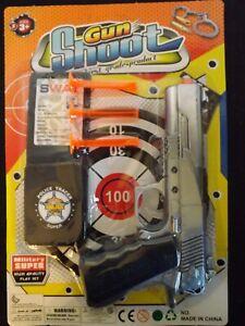Polizei Set Pistole mit Gummipfeilen Kinder Kostüm