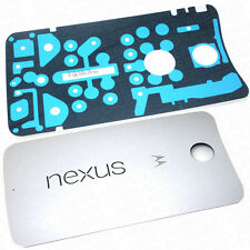 OEM Motorola Nexus 6 Replacement Battery Cover Rear Housing & Adhesive White